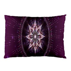 Flower Twirl Star Space Purple Pillow Case by Mariart