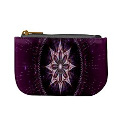 Flower Twirl Star Space Purple Mini Coin Purses by Mariart