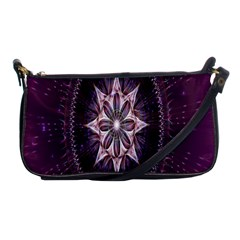 Flower Twirl Star Space Purple Shoulder Clutch Bags by Mariart