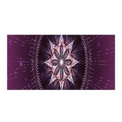 Flower Twirl Star Space Purple Satin Wrap by Mariart