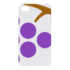 Fruit Grape Purple Apple Iphone 4/4s Premium Hardshell Case by Mariart