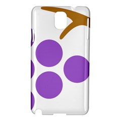 Fruit Grape Purple Samsung Galaxy Note 3 N9005 Hardshell Case by Mariart