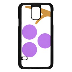 Fruit Grape Purple Samsung Galaxy S5 Case (black) by Mariart