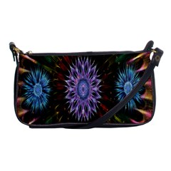 Flower Stigma Colorful Rainbow Animation Gold Space Shoulder Clutch Bags by Mariart