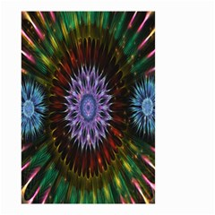 Flower Stigma Colorful Rainbow Animation Gold Space Small Garden Flag (two Sides) by Mariart