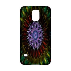 Flower Stigma Colorful Rainbow Animation Gold Space Samsung Galaxy S5 Hardshell Case  by Mariart