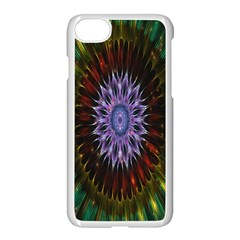 Flower Stigma Colorful Rainbow Animation Gold Space Apple Iphone 7 Seamless Case (white) by Mariart