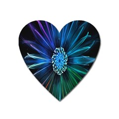 Flower Stigma Colorful Rainbow Animation Space Heart Magnet by Mariart