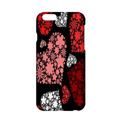 Floral Flower Heart Valentine Apple Iphone 6/6s Hardshell Case by Mariart
