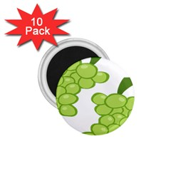 Fruit Green Grape 1 75  Magnets (10 Pack)  by Mariart