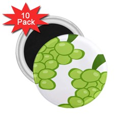 Fruit Green Grape 2 25  Magnets (10 Pack)  by Mariart