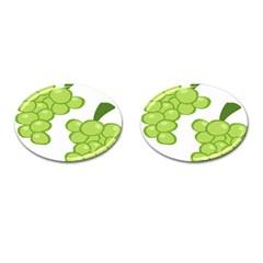 Fruit Green Grape Cufflinks (oval) by Mariart