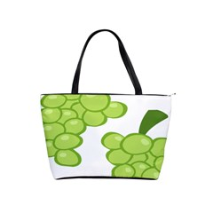 Fruit Green Grape Shoulder Handbags by Mariart