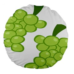Fruit Green Grape Large 18  Premium Round Cushions by Mariart