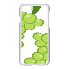 Fruit Green Grape Apple Iphone 7 Seamless Case (white) by Mariart