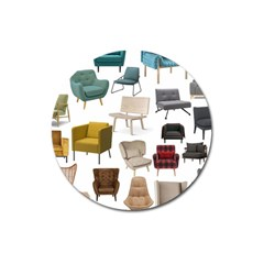 Furnitur Chair Magnet 3  (round) by Mariart