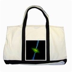 Gas Yellow Falling Into Black Hole Two Tone Tote Bag by Mariart
