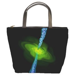 Gas Yellow Falling Into Black Hole Bucket Bags by Mariart