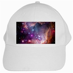 Galaxy Space Star Light Purple White Cap by Mariart