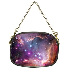 Galaxy Space Star Light Purple Chain Purses (one Side)  by Mariart