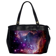 Galaxy Space Star Light Purple Office Handbags by Mariart