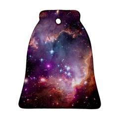 Galaxy Space Star Light Purple Bell Ornament (two Sides) by Mariart