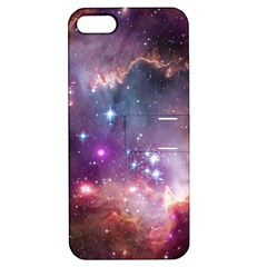Galaxy Space Star Light Purple Apple Iphone 5 Hardshell Case With Stand by Mariart