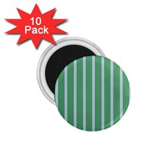 Green Line Vertical 1 75  Magnets (10 Pack)  by Mariart