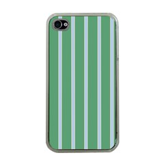 Green Line Vertical Apple Iphone 4 Case (clear) by Mariart