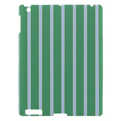 Green Line Vertical Apple Ipad 3/4 Hardshell Case by Mariart
