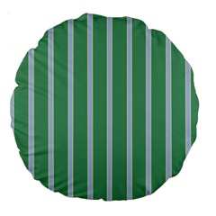 Green Line Vertical Large 18  Premium Round Cushions by Mariart