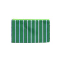 Green Line Vertical Cosmetic Bag (xs) by Mariart