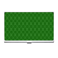 Green Seed Polka Business Card Holders by Mariart