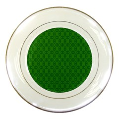 Green Seed Polka Porcelain Plates by Mariart