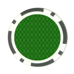 Green Seed Polka Poker Chip Card Guard (10 Pack) by Mariart