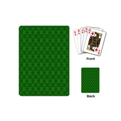 Green Seed Polka Playing Cards (mini)  by Mariart