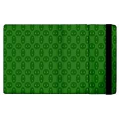 Green Seed Polka Apple Ipad 3/4 Flip Case by Mariart