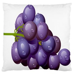 Grape Fruit Standard Flano Cushion Case (one Side) by Mariart