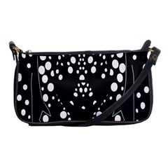 Helmet Original Diffuse Black White Space Shoulder Clutch Bags by Mariart