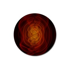 High Res Nostars Orange Gold Magnet 3  (round) by Mariart