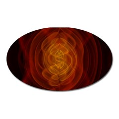 High Res Nostars Orange Gold Oval Magnet by Mariart