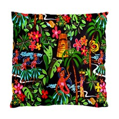 Hawaiian Girls Black Flower Floral Summer Standard Cushion Case (one Side) by Mariart