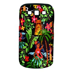 Hawaiian Girls Black Flower Floral Summer Samsung Galaxy S Iii Classic Hardshell Case (pc+silicone) by Mariart