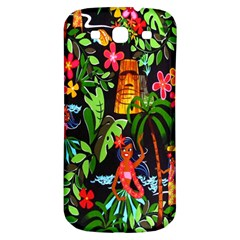 Hawaiian Girls Black Flower Floral Summer Samsung Galaxy S3 S Iii Classic Hardshell Back Case by Mariart