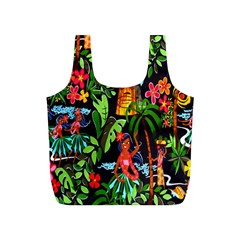 Hawaiian Girls Black Flower Floral Summer Full Print Recycle Bags (s)  by Mariart