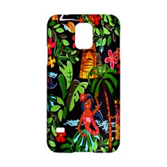 Hawaiian Girls Black Flower Floral Summer Samsung Galaxy S5 Hardshell Case  by Mariart