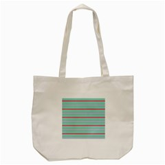 Horizontal Line Blue Red Tote Bag (cream) by Mariart