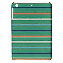 Horizontal Line Green Red Orange Apple Ipad Mini Hardshell Case by Mariart