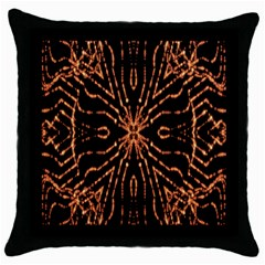 Golden Fire Pattern Polygon Space Throw Pillow Case (black) by Mariart