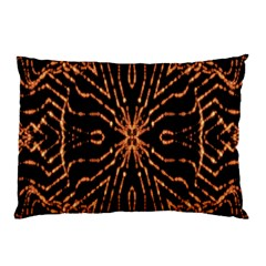 Golden Fire Pattern Polygon Space Pillow Case by Mariart